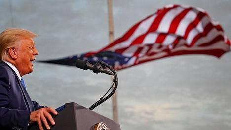 Yhdysvaltain presidentti Donald Trump puhui Jacksonvillessa Floridassa 24. syyskuuta.