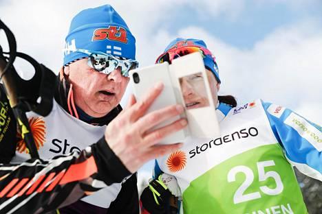 Reijo Jylhä ja suomalaishiihtäjät valmistautuvat ensi talven olympialaisiin. Kuva viime helmikuulta.