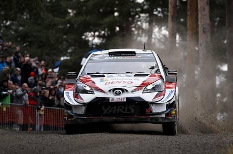 Toyotan Ott Tänak antoi tyylinäytteen Jyväskylän keskustassa ajettavalla Harjun erikoiskokeella viime vuonna.