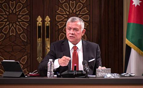 Jordanian Kuningas Abdullah II kuvattuna maaliskuussa.