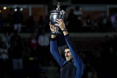 Novak Djokovic voitti kolmannen kerrran tenniksen US Openin.