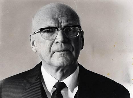 Presidentti Urho Kekkosella oli Otaniemessä tärkeä tehtävä.