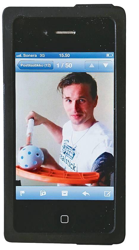 Mikko Kohonen otti itsestään kännykällä kuvan.