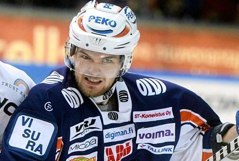 Marko Kauppinen pelasi viime kaudella Tapparassa.