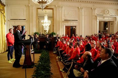 Barack Obama sanoi, ettei Yhdysvalloissa ole enää lapsia, jotka eivät voisi tunnistaa itseään katsoessaan maan olympiajoukkuetta.