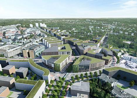 Tältä Haagan liikenneympyrä voisi näyttää.