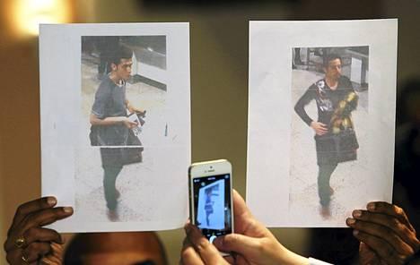 Kuvissa ovat varastetuilla tai hävinneillä passeilla kadonneell Malaysian Airlinesin lennolle osallistuneet matkustajat.