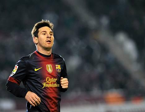 Lionel Messi pelasi ottelussa Cordoba FC vs FC Barcelona keskiviikkoiltana.