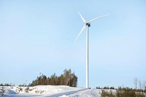 Tuulivoimala Tuuliwatti oy:n tuulivoimapuistossa Iin Olhavassa.