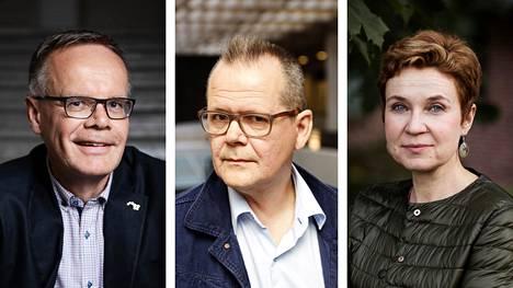 Pasi Vainio, Kari Hotakainen ja Sirpa Kähkönen