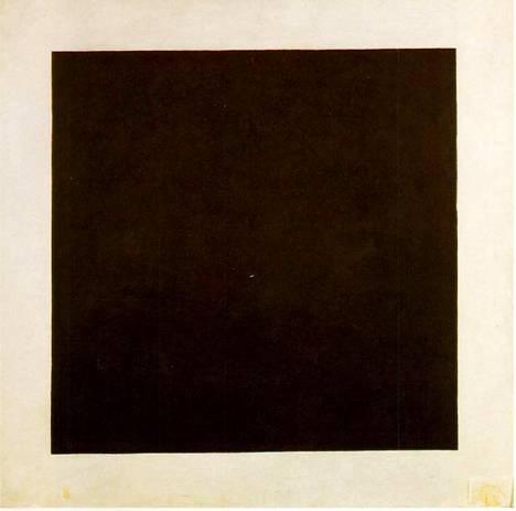 Kazimir Malevitsin maalama Musta neliö (1915) on modernin taiteen klassikko.