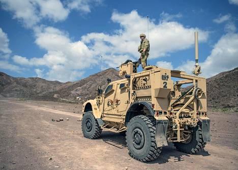 Kersantti Wesley Carter osallistui Yhdysvaltain armeijan sotaharjoitukseen Djiboutissa joulukuussa 2018.
