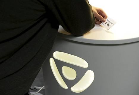 Työnhakija kuvattiin Pasilan TE-toimistossa 2017.