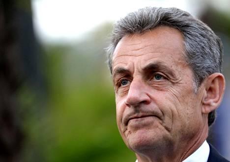 Ranskan entinen presidentti Nicolas Sarkozy Nizzan-vierailulla Ranskassa tammikuussa 2020.