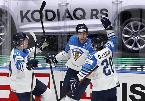 """Marko """"Mörkö"""" Anttila sinetöi Suomen finaalivoiton 2019 kahdella maalillaan."""