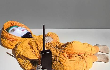 Yksityiskohta teoskokonaisuudesta Related to Glory, joka oli helmikuussa esillä galleria Huudossa.