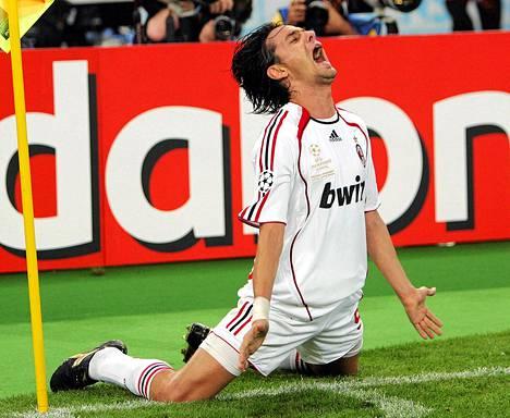 Filippo Inzaghi oli pelaajaurallaan armoitettu maalintekijä. Kuva on vuodelta 2007.