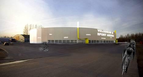 Urheilun monitoimihalli nousisi Malmin jäähallin viereen. Havainnekuvassa jäähalli näkyy kaavaillun monitoimihallin takana.