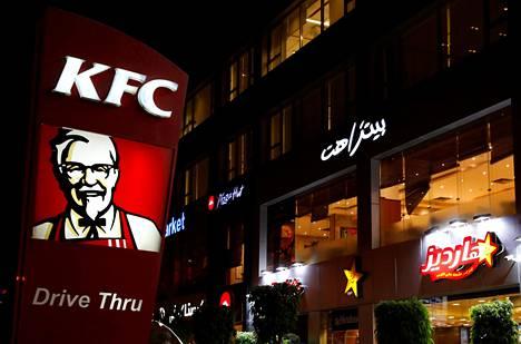 KFC on levittäytynyt ympäri maailmaa. Kuvassa ketjun ravintola Kairossa Egyptissä.
