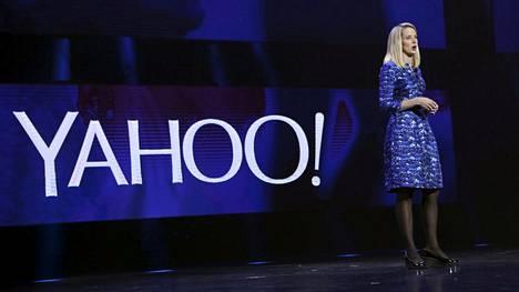 Yahoon toimitusjohtaja Marissa Mayer esitteli yhtiön palveluja CES-elektroniikkamessuilla vuonna 2014.