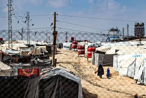 Kuvaa Al-Holin pakolaisleiriltä maaliskuun alusta.