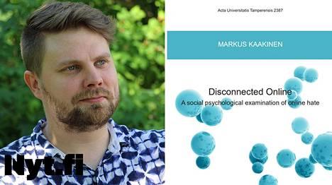 Markus Kaakisen väitöskirja vihapuheesta julkaistiin kesäkuussa.