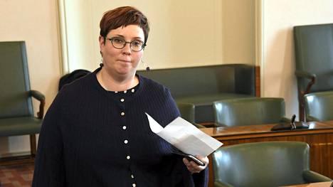 Vasemmistoliiton kansanedustaja Merja Kyllönen.
