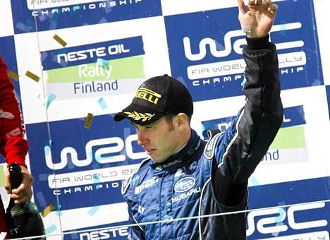 Chris Atkinson ajoi Jyväskylän rallissa kolmanneksi vuonna 2008.
