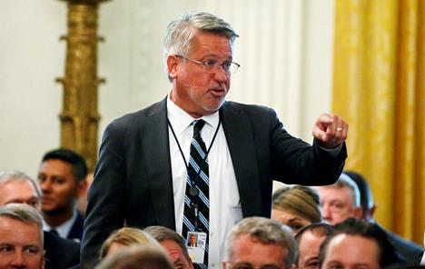 Valkoisen talon viestintäjohtajana toiminut Bill Shine elokuussa 2018.