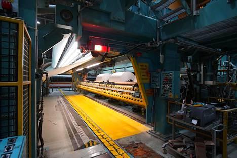 Kaipolan paperitehdas Jämsässä. Kun UPM päätti sulkea tehtaan, yli 400 ihmistä menettää työnsä.