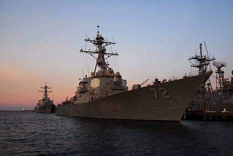 USS Mahan on yksi sota-aluksista, joita Yhdysvallat saattaa käyttää Syyria-iskussa.