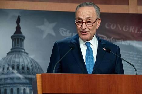 Senaatin demokraattien johtaja Chuck Schumer.