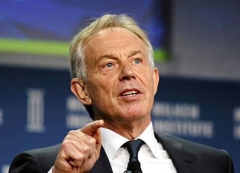 Entinen Britannian pääministeri Tony Blair.
