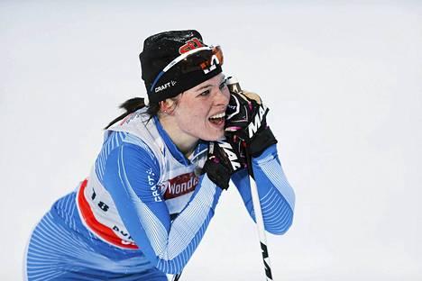 Krista Lähteenmäki oli parhaana suomalaisena 12:s takaa-ajokisassa Rukalla.