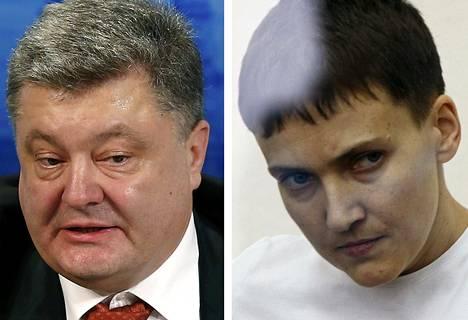 Petro Porošenko ja Nadija Savtšenko
