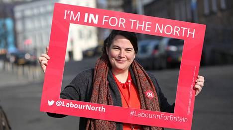 Britannian työväenpuolueen meppi Jude Kirton-Darling kommentoi Brexit-tilannetta HS:lle.