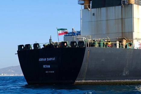 Iranilainen Adrian Darya 1-säiliöalus Gibraltarin edustalla 18. elokuuta.