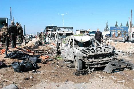 Autopommin räjähdys aiheutti laajaa tuhoa Haman kaupungissa Syyriassa.