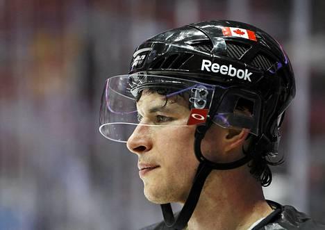 Sidney Crosby janoaa maalia Suomea vastaan kello 19.00 alkavassa ottelussa.