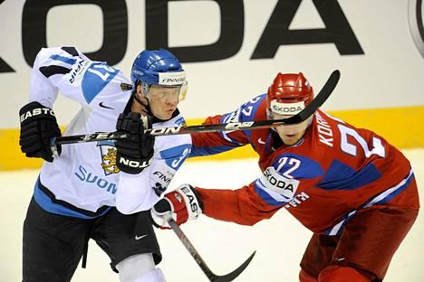 Mika Pyörälä pelasi viime kevvänä MM-kultaa voittaneessa Leijona-joukkueessa.