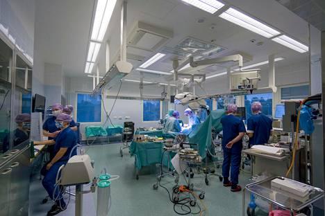 Leikkaussali Savonlinnan keskussairaalassa marraskuussa 2019.