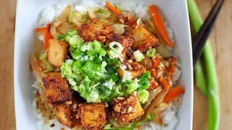Pähkinäistä tofua.
