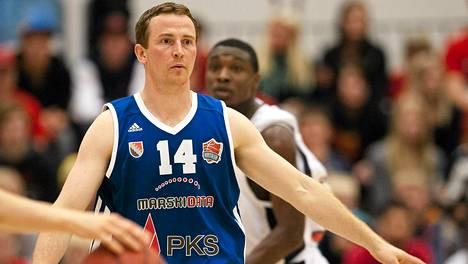 Joensuun Katajan Petri Virtanen on Korisliigan syöttötilaston kärkimies.