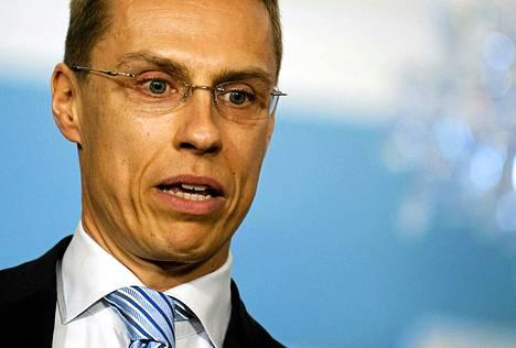Eurooppaministeri Alexander Stubb perusteli Suomen tiukentunutta EU-politiikkaa.