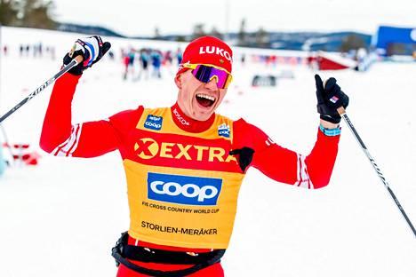 Aleksandr Bolšunov tuuletti ensimmäistä voittoaan pohjoismaisella kiertueella ja vankisti ylivoimaista johtoaan maailmancupin kokonaiskilpailussa.