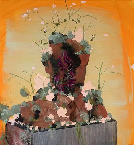 Kati Immonen: Monument – Pine, 2020, vesiväri ja akryyli paperille.