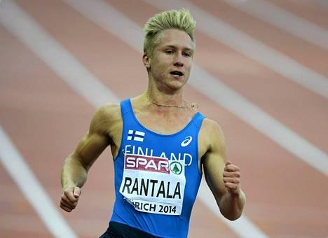 Eetu Rantala pinkoi satasen välierissä ajan 10,54, joka ei miestä tyydyttänyt.