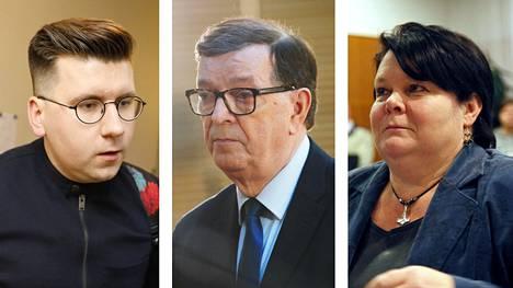 Sebastian Tynkkynen, Paavo Väyrynen ja Terhi Kiemunki