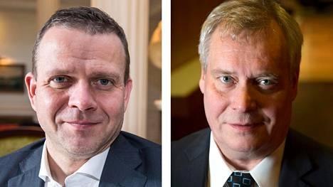 Kokoomuksen puheenjohtaja Petteri Orpo ja Sdp:n puheenjohtaja Antti Rinne.