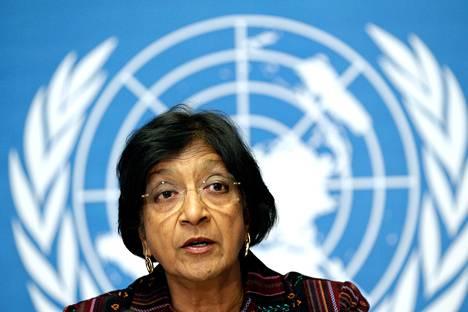 YK:n ihmisoikeusvaltuutettu Navi Pillay vaati harvinaisessa kannanotossaan kansainvälistä tutkintaa Pohjois-Korean ihmisoikeustilanteesta.